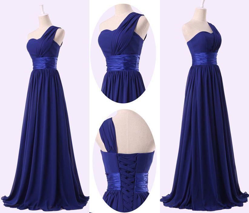 modré antické šaty na jedno rameno Simona - plesové šaty e5e34d578f